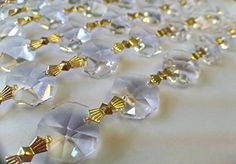 1 Yard Asfour Lead Crystal Chandelier Prisms Clear Chains * Click on the image for additional details.