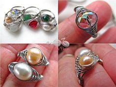 wire weaving jewelry | Herringbone Weaved Rings by WireBliss