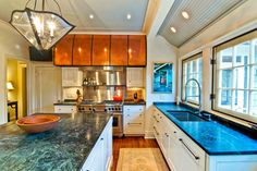 "CABINETS AND GRANITE   Kitchen Remodel: ""Copper Hood"" - traditional - kitchen - charlotte - Andrew Roby General Contractors"