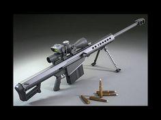Rifle Barrett m107 Es un rifle francotirador utilizado por los Estados Unidos en la Tormenta Del Desierto, lanza balas de calibre 50 y se le pueden adaptar balas explosivas, siendo esta una combinación poderosa.