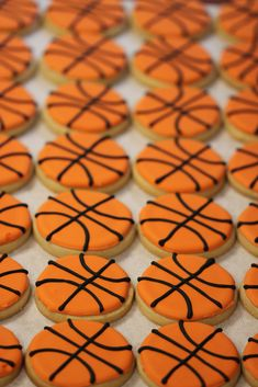 The Crafty Penguin: Basketball Sugar Cookies