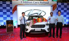 7 Millionth Car Rolls out of #Hyundai Motor India Limited