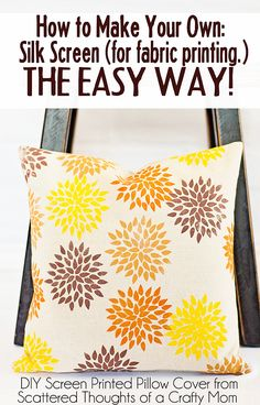 How to make your own silk screen, the easy way!