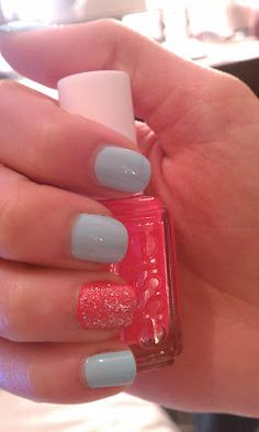 Mint Candy Apple/Peach Daquiri by Essie #nails