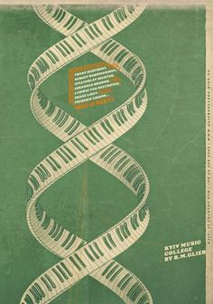 The Print Ad titled Kyiv Music College named by R.Glier: DNA was done by Kaffeine advertising agency for product: Kyiv Music College named by R.Glier (brand: Kyiv Music College) in Ukraine. Dna Music, Piano Music, Music Colleges, Music School, Piano Keys, Sound Of Music, Picture Design, Print Ads, Poster