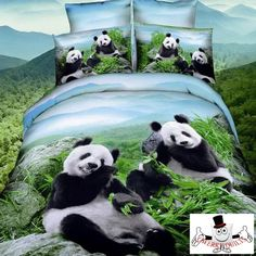 Beautiful Panda Bears Bedding Set and Quilt Cover                                                                                                                                                     More
