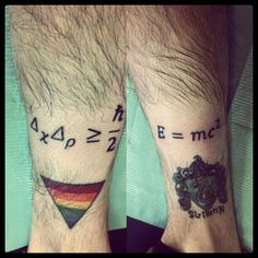 I'm so much going to have an 'E=mc^2' tattoo!
