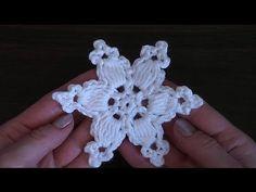 VERY EASY Сrochet snowflake 2 Tutorial - YouTube