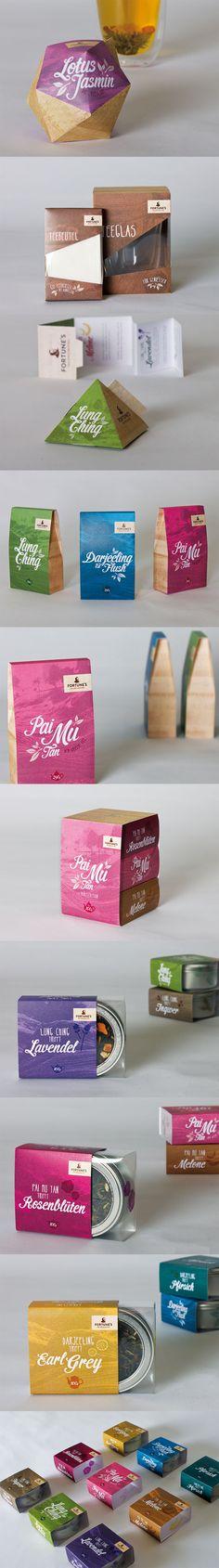 Fortune's Tea Specialties #packaging PD