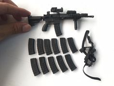 "Winstatoy 1//6 scale Cross Fire Special Forces weapon MP5+Rack for 12/"" figure use"