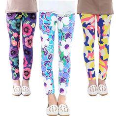 New Baby Kids Childrens Printing Flower Toddler Classic Leggings Girls Pants Girls Legging 2-14Y Baby Girl Leggings