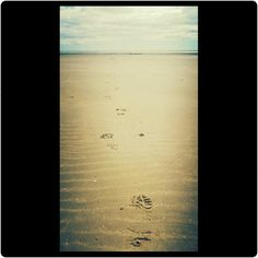 Following #footprintsinthesand #carmarthenshire #Wales #sun #sea  #sand #Tenby #Wales #clouds #beautifulbackdrops #naturalbackdrops #cloudporn #beachlife #blueskies