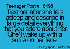 Seriously... I wish. But I'm way too geeky and shy to even have a boyfriend. Not a chance