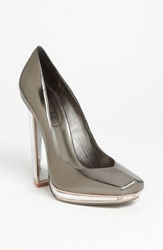 Yves Saint Laurent Mirror Heel Pump | Nordstrom .... What I would give for these lovely lovely shoes... it's art-deco architecture for your feet