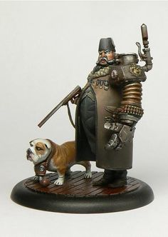 """Two brilliant new miniatures sculpted by Thomas David  for Smog :    """"Shaking Sean"""" the peglegged, blowtorch toting plague doctor.      """"X-F..."""