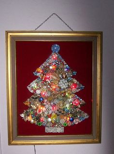costume jewelry trees | Costume Jewelry Lighted Christmas Tree by DJandPvintage on Etsy