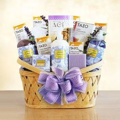 Spa and Tea Getaway Gift Basket | Lavender Scented
