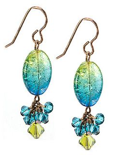 Jewelry Making Idea: Laguna Sky Earrings (eebeads.com) not sure if I like it or not but its interesting to say the least