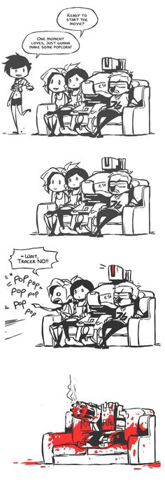 Look what you did Tracer. | bastion - overwatch comic meme funny humor #overwatchMeme #bastion