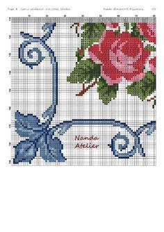 Cross Stitch Fabric, Cross Stitch Flowers, Cross Stitch Patterns, Rose Bouquet, Diy And Crafts, Alphabet, Kids Rugs, Embroidery, Cross Stitch Rose