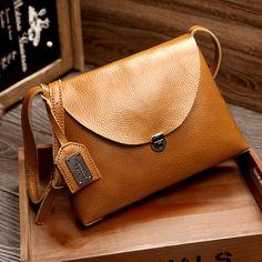 Women's Genuine Leather Handbags Shoulder CrossBody Bags Ladies Fashion Messenger Bag Cow Leather Women Bags #Affiliate