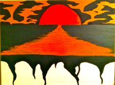 Painting - Dark Sunset, by Bobby Janss