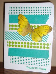washi tape card by luvreadnbooks (charlene), via Flickr