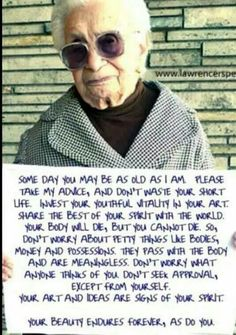 Wisdom from an old woman