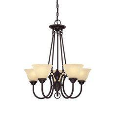 $110.72 Westinghouse Elena 5-Light Dark Bronze Chandelier-6222300 at The Home Depot
