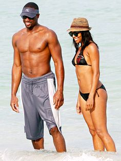 Hollywoods Fittest Celebrity Couples: Gabrielle Union and Dwayne Wade <3 <3 <3