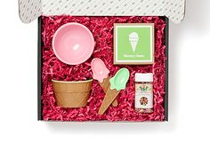 What a great gift idea: Ice Cream Social Personalized Gift Box in Pink | PinholePress.com