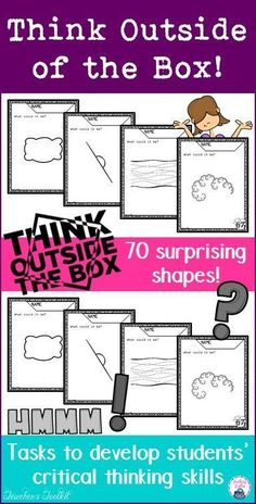 Today's students are the problem-solvers of the future. If they are taught factual knowledge only, they tend to respond with conventionally correct answers rather than exploring creative solutions. All students can learn to think critically and creatively. This 'Think Outside of the Box' series provides teachers with straightforward ideas and activities to help students develop these skills.