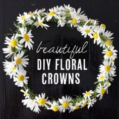 8 beautiful DIY floral crowns perfect for flower girls, brides and bridesmaids! (via Hellobee)