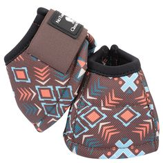 Classic Equine Designer Line No Turn Dyno Bell Boots- Chocolate Tribal