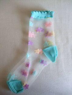 See through socks! CUTE :)