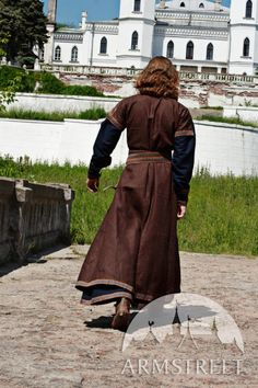 Medieval Men's Costume: Long Tunic and Overcoat Set. $182.00, via Etsy.
