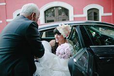 La novia llegando a la Hacienda Nadales.