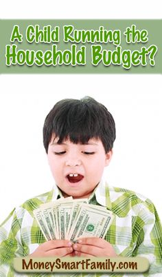 Can a child run the household budget? And many other budgeting tips! Money Tips, Money Saving Tips, Money Hacks, Household Budget, Budget Organization, Making A Budget, Financial Tips, Budgeting Tips, Money Matters
