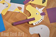 Unicorn Hobby Horse Craft - Red Ted Art - Make crafting with kids easy & fun Unicorn Hobby Horse, Diy Unicorn, Unicorn Crafts, Horse Crafts, Animal Crafts, Unicorn Party, Chinese New Year Activities, Chinese New Year Crafts, New Years Activities