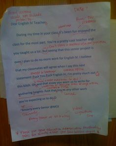 """English be hard. Student writes an """"F U"""" letter to teacher but is schooled for it"""