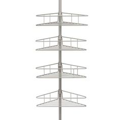 "Kenney 4 Tier Pole Caddy$35 Overall: 108"" H x 84"" W x 10"" D"