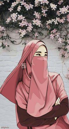 Gambar Kartun Muslimah Bercadar Memanah Art Pinterest Muslim