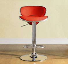 2 Ride Contemporary Red Metal Low Back Airlift Swivel Stools