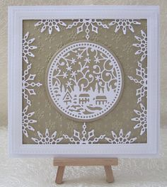 Fall Cards, Christmas Cards, Sue Wilson, Snowflakes, Card Making, How To Make, Crafting, Handmade, Inspiration
