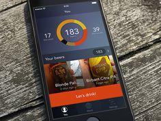 Beer app for iOS WiP Ios Design, Beer, Let It Be, App, Root Beer, Ale, Apps