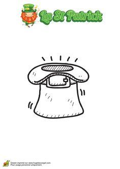 Image à colorier d'un chapeau spécial de la Saint Patrick