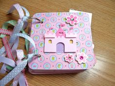 Princess Mini Album Chipboard Scrapbook by HampshireRose on Etsy, $20.00
