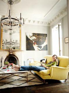 Jenna Lyons living room- LOVE