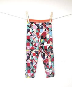 ECO friendly geometric bamboo fiber leggings by DreamNation