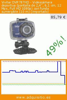 Vivitar DVR787HD - Videocámara deportiva (pantalla de 2,4'', 6,1 cm, 12 Mpx, Full HD 1080p) con funda sumergible (10 m) (importado) (Electrónica). Baja 49%! Precio actual 85,79 €, el precio anterior fue de 167,49 €. https://www.adquisitio.es/vivitar/dvr787hd-videoc%C3%A1mara-0